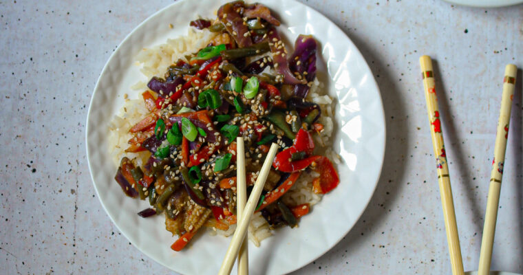 A Delicious, Quick and Healthy Mongolian Vegetarian Stir Fry