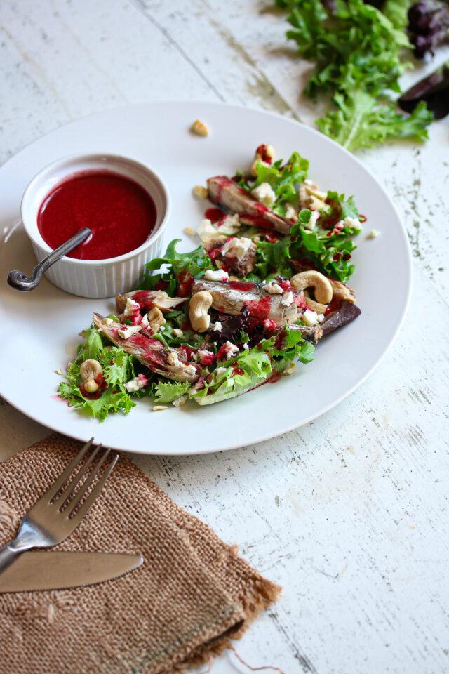 Mackerel Salad with Beet Vinaigrette